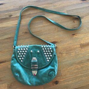 Rebecca Minkoff teal studded bag
