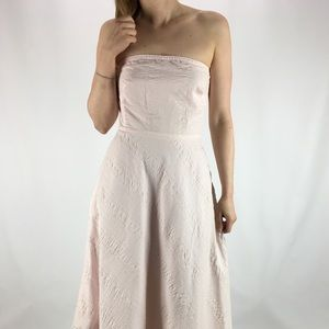 J.CREW Pink Embossed Beach Dress Cotton 4 LIKE NEW