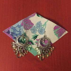 True vintage earrings- dangly mandala