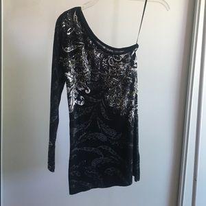 Cache Ribbed Top/Mini Dress