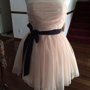 Strapless Chiffon Party Dress