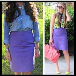 J. Crew Pencil Skirt in purple