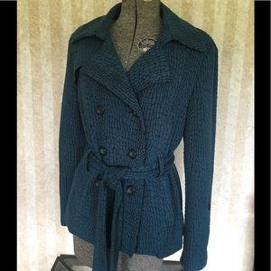 Comfy belted jacket.