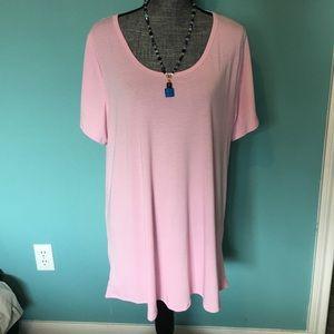 LuLaRoe Solid Pink Classic Tshirt Shirt NWT New