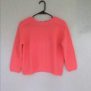 Zara Knit Double Zip Sweater (Sz S)