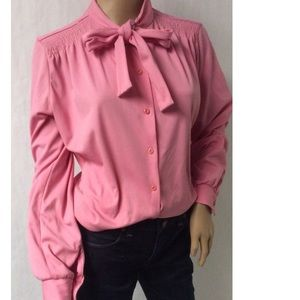 Pink Vintage Bow Top Size 16