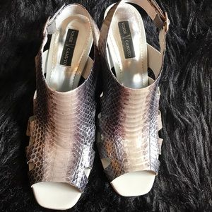 Vince Camino Leather Snake Sink heels