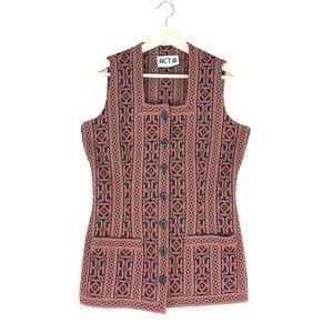 Vintage 60s waist coat hippie vest micro mini M