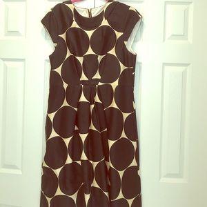 Kate Spade Black and Tan Silk Dress