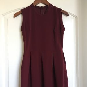 Sandro Burgundy Dress Size 1