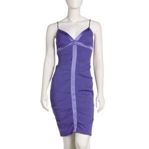 Blue & Purple Nicole Miller Cocktail Dress