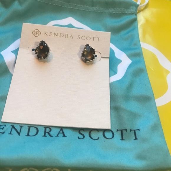 9779dcabb Kendra Scott Jewelry - Tessa Stud Earring - black mother of pearl/ silver