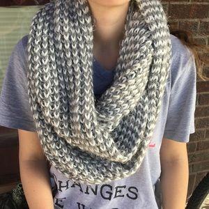 Winter knit scarf