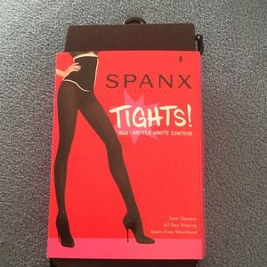 Spanx Black High-Waisted Semi Opaque Tights B