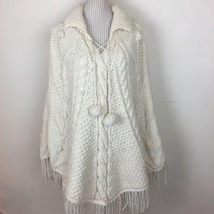 🆕Native American Cream Wool Poncho