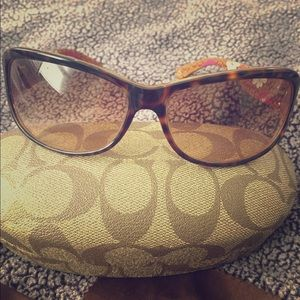 "Like new coach ""Sarah"" sunglasses - tortoise"