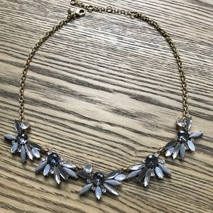 J Crew Grey Clusters Necklace