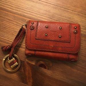 Chloe leather key/card holder