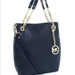 Michael Kors Blue Jet Set Chain Crossbody +dustbag