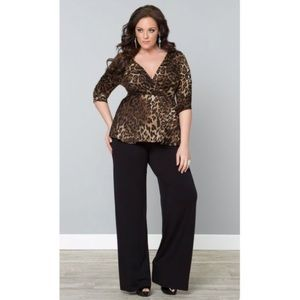 Black Palazzo Pants Stretchy Flattering Slimming