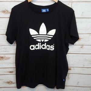 Adidas logo box fit men's medium tee