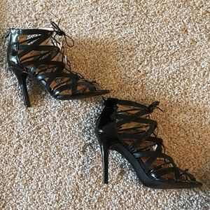 Parbal Gurung for Target Black Strappy Booties