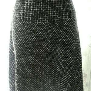 Coldwater Creek Woven Black and White Skirt