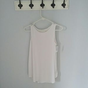 White Muscle Tank Tall