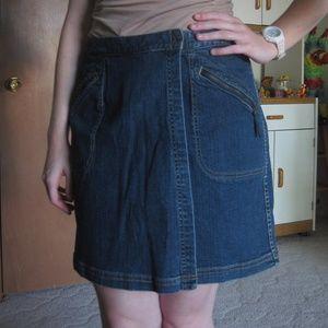 Vintage 90s Liz Claiborne blue jean skort