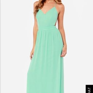 Lulus rooftop garden maxi dress
