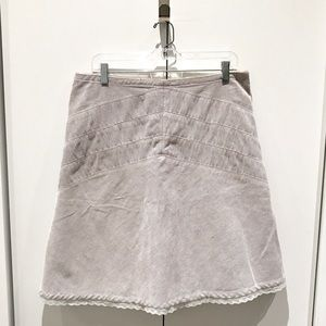 Anthropologie Luxe Courduroy Skirt, Size 7