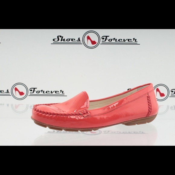 aa5d459474ed8 Geox Respira Shoes | Patent Leather Coral Loafers 8 12 | Poshmark