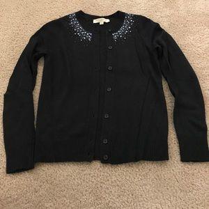 Black cardigan with beautiful beading detail