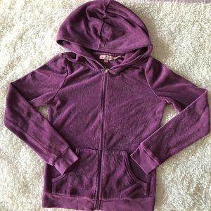 Juicy Couture iconic hoodie sweatshirt in purple