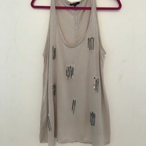 GAP Tan and Sequined Tank