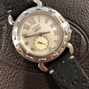 Fendi Selleria Watch with Mother of Pearl Face
