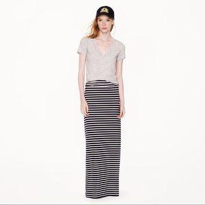 J. Crew Stripe Jersey Maxi Skirt, M