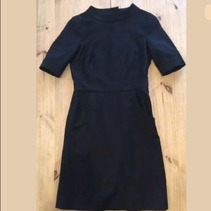 J. Crew size 0 Black career 100% wool dress