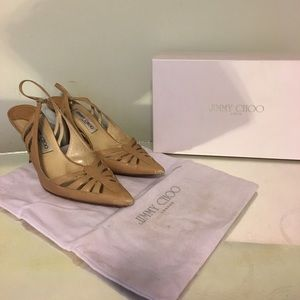 Jimmy Choo Camel leather Mules