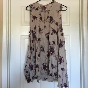 Free people floral swing tunic sz m