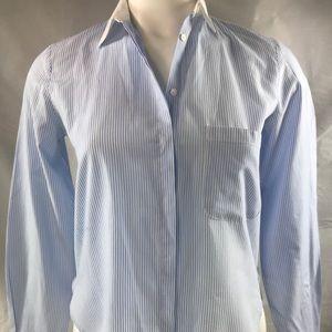 Zara Woman Striped Button Blouse