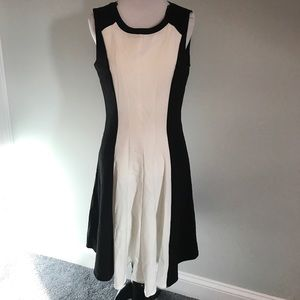 Calvin Klein black and white dress Size 6