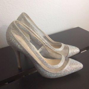 ANNE MICHELLE Monet Crystal Sparkly Formal Heels
