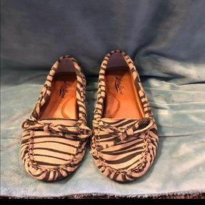 Lucky brand animal print Loafers size 6.5
