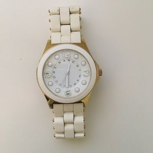Marc by Marc Jacobs white and cold watch