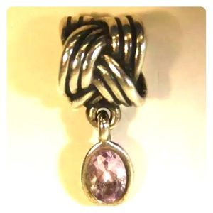 "Pandora ""Tied Together"" Dangle Charm w/amethyst"