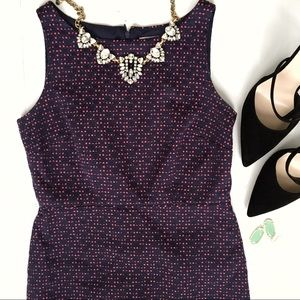 LOFT Tweed Polkadot Sleeveless Dress SZ 0P
