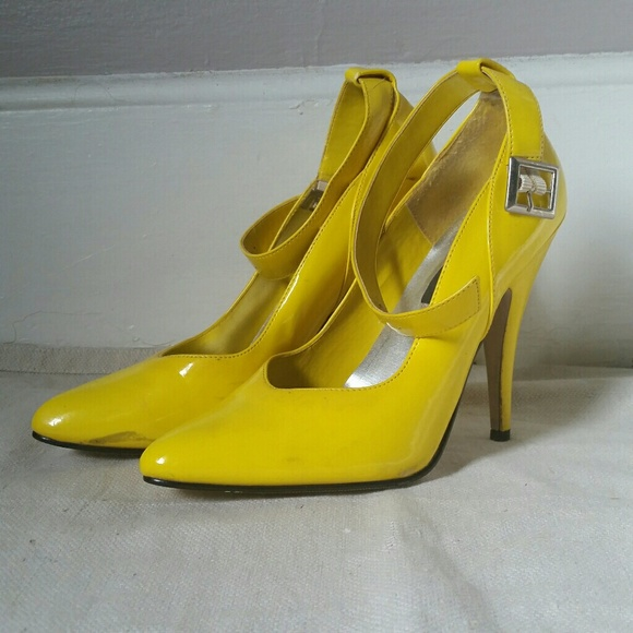 83133a0992ee1 Ellie Shoes | Bright Yellow Stiletto Pumps | Poshmark