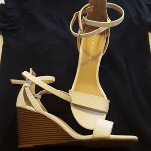 Kelly and Katie white wedges