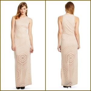Nude plus size maxi dress